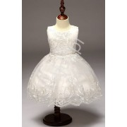 Biała koronkowa sukieneczka dla dziewczynki sukienki na komunie, chrzest dla dziewczynki