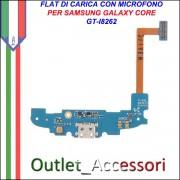 Flat Connettore Usb Ricarica Microfono per Samsung Galaxy Core i8262