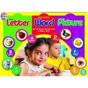 Ratna's Toyztrend Educational Letter Word Picture Junior For Kids To See The Picture Find The Letter & Make A Word