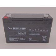Sunlight 6V 10Ah acumulator AGM VRLA SPA 6 - 10