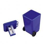 Merkloos Blauwe vuilnisbak puntenslijper 6 cm