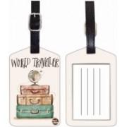 Nutcaseshop WORLD TRAVELER Luggage Tag(Multicolor)