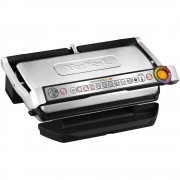 Grătar electric TEFAL OptiGrill+ XL Snacking&Baking GC724D12, 2000 W, 9 programe, Senzor automat de gatire, Indicator gatire, 4 setari temperatura, Negru/Argintiu