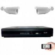 Kit vidéosurveillance IP 2 caméras 1mp 30m