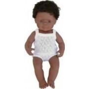 Baby afroamerican baiat Miniland 38 cm