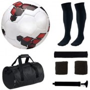 Combo of Premier League Red/Yellow Football (Size-5) with 5 Other items