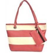 Vero Couture Rose Pink Colour-Block Tote Bag Pink Tote