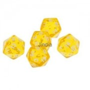 Alcoa Prime 5pcs Multi-Sided Dice Set D20 Dungeons & Dragons TRPG Games Role Play - Yellow
