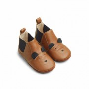 Liewood - Edith Leather Slippers - Mr Bear Mustard - 18
