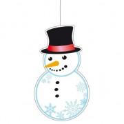 Merkloos Kerst hangdecoratie sneeuwpop 41 cm