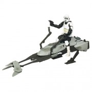 Hasbro Star Wars 2009 Clone Wars Legacy Collection Exclusive Speeder Bike with Scout Trooper