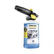 Duza pentru spumare cu solutie de curatat auto Kärcher 3-in-1 Car Shampoo 1L pentru aparate de spalat cu presiune