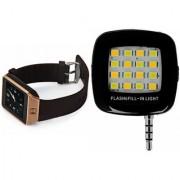 Zemini DZ09 Smart Watch and Mobile Flash for PANASONIC T33(DZ09 Smart Watch With 4G Sim Card Memory Card| Mobile Flash Selfie Flash)