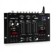 22BT 2CH Mixer per DJ 2/3 Canali 2x USB 3x Jack da 6,3 nero