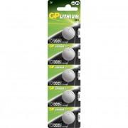 Blister 5 Batterie Litio a Bottone CR2025