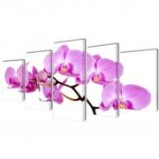 vidaXL Декоративни панели за стена Орхидея, 100 x 50 см