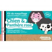 NAMAKI Kit maquillage bio 3 couleurs - Chien et Panthère rose