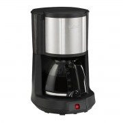 Cafetiera Tefal Subito Select CM370811, 10-15 cesti, 1.25L, Pastrare la cald de 30 min, Functie de oprire automata, Filtru cu suport rotativ, Negru/Argintiu