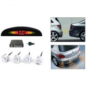 AutoStark Reverse Car Parking Sensor LED Display White For Maruti Suzuki Gypsy