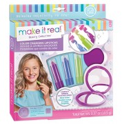Make It Real Color Changing Lipstick. Tween Girls Lipstick & Compact Mirror Set with That Changes When Applied. Includes 3 Great Shades of and Cute