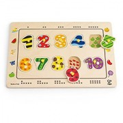 Hape - Numbers Matching Wooden Peg Puzzle