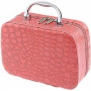 GM fresh Cosmetic Box Toiletry Box Organizer with Magnifying Compact Storage Box Travel Toiletry Kit(Pink)