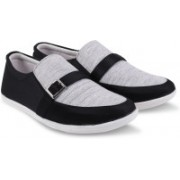 navy stone Casual Shoe Canvas Shoes For Men(Black, Grey)