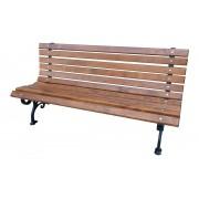 Parková lavice Klasická 180 cm litina, olše, lakovaná - 180