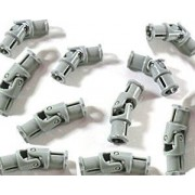 LEGO Technic - 10 x small universal joint in new light grey 3 studs long