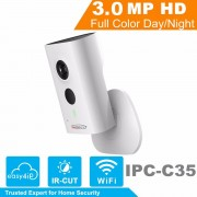 HiSecu 3MP Wifi IP Camera IPC-C35 HD 1080p Security Camera Support SD card up to 128GB built-in Mic English version IPC-C35 OEM