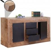 Sideboard HWC-A15, Kommode Schrank Anrichte, Tanne Holz rustikal massiv 90x160x45cm 67kg ~ Variantenangebot