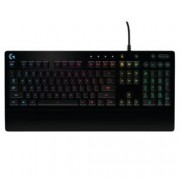 Клавиатура Logitech G213 Prodigy RGB Gaming, гейминг, водоустойчива, черна, USB