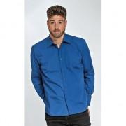 Lemon & Soda Heren overhemd kobalt blauw