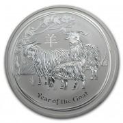 Lunární série II. stříbrná mince 1 AUD Year of the Goat Rok kozy 1 Oz 2015