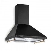 Klarstein Victoria Dunstabzugshaube Retro-Design 600m³/h 2 LED-Lampen schwarz