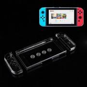 7 En 1 Para Nintendo Switch Crystal Portable Back Protección Caso Hard Shell Cover Caps