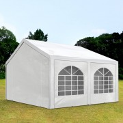 TOOLPORT Partytent 3x4m PE 240g/m² wit waterdicht Gartenzelt, Festzelt, Pavillon