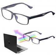 infactory Augenschonende Bildschirm-Brille mit Blaulicht-Filter, +2,0 Dioptrien