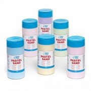 Baker Ross Pastel Coloured Sand - 6 x 350g Tubs of Craft Sand in 6 assorted colours. Fine grade, pastel coloured with high pigmentation.