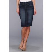 Blank NYC Denim Pencil Skirt in Denim Blue Denim Blue