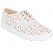 Long Walk Stylish Premium Lazer Sneakers For Women(Off White)