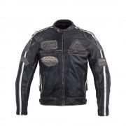 Férfi Motoros Bőrkabát W-TEC Sheawen Vintage 20558/fekete
