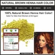 Natural Brown Henna for hair coloring smoothing shine powder 200gm