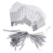 Imported Silver Ribbon Wedding Favor Boxes Candy Gift Boxes Paper Bags Pack of 50pcs