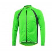 Camisas Jersey Ciclismo Al Aire Libre Manga Corta Reflectante - Verde