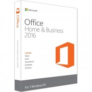 Microsoft Office Home and Business 2016, 32/64bit, Limba Engleza, FPP/Medialess