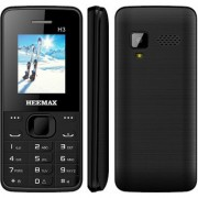 HEEMAX H3 (Dual Sim 1.8 Inch Display 1000 Mah Battery 1 YEAR WARRANTY Made In India ) BLACK