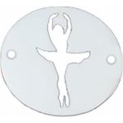 Bratara Balerina pandantiv Argint 925 silueta decupata snur rosu Artemis Gift