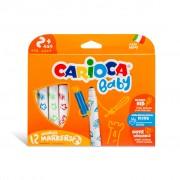 Carioci Lavabile Carioca Baby 2ani+ Set 12 culori