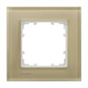 Рамка Siemens Delta Miro Glass 1 пост Arena бежевое стекло 5TG1201-4